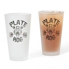 Plate Hog Drinking Glass