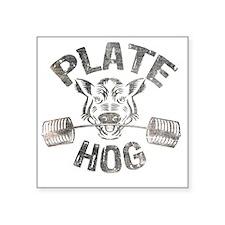 """Plate Hog Square Sticker 3"""" x 3"""""""