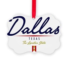 Dallas Script W Ornament