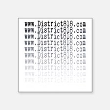 "district818_fading Square Sticker 3"" x 3"""