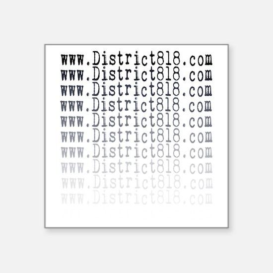 """district818_fading Square Sticker 3"""" x 3"""""""