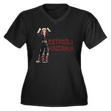 purim Women's Plus Size Dark V-Neck T-Shirt