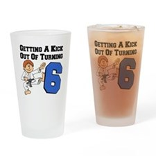 Martial Arts 6th Birthday Drinking Glass