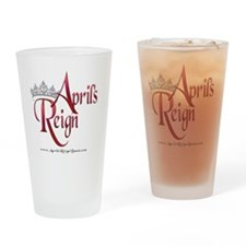 Logo Over Black (10x10) Drinking Glass