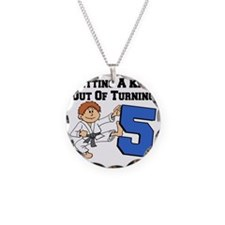 Karate Fifth Birthday Necklace