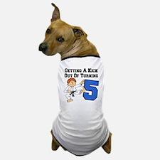 Karate Fifth Birthday Dog T-Shirt