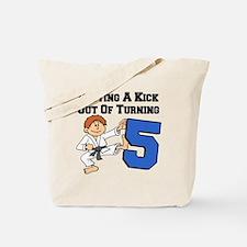 Karate Fifth Birthday Tote Bag