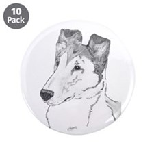 """Smooth Collie sable 3.5"""" Button (10 pack)"""