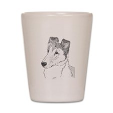 Smooth Collie sable Shot Glass