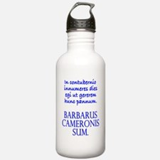 Camping Out Wh Masc Water Bottle