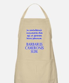 Camping Out Wh Masc Apron