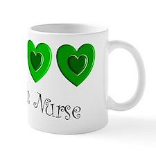 Irish Nurse 3 green hearts Mug
