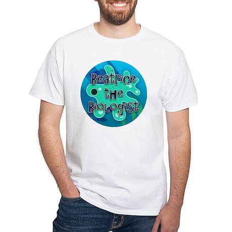 Beatrice the Biologist Logo White T-Shirt