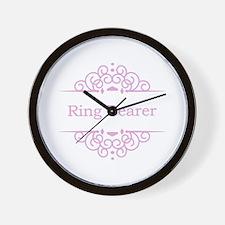 Ring bearer in pink Wall Clock