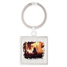 Extreme Firefighter Square Keychain