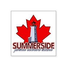 "Summerside Lighthouse Square Sticker 3"" x 3"""