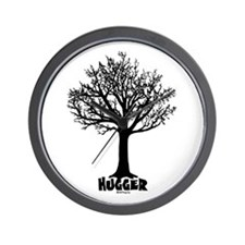 TREE hugger (black) Wall Clock