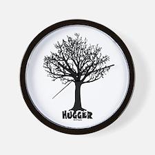 TREE hugger (black) Wall Clock