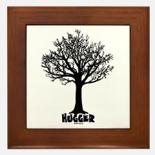 TREE hugger (black) Framed Tile