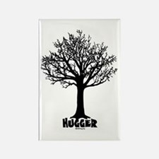 TREE hugger (black) Rectangle Magnet