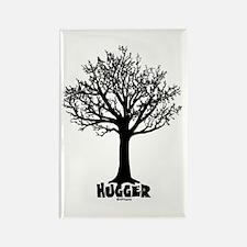 TREE hugger (black) Rectangle Magnet (100 pack)