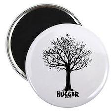 """TREE hugger (black) 2.25"""" Magnet (10 pack)"""