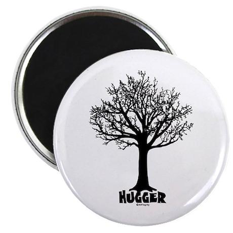 """TREE hugger (black) 2.25"""" Magnet (100 pack)"""