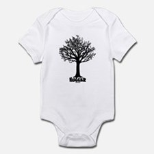 TREE hugger (black) Infant Bodysuit