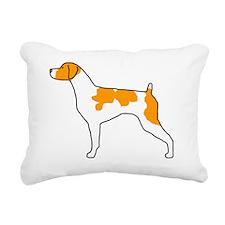 BMBrittanyOrange001 Rectangular Canvas Pillow