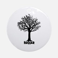 TREE hugger (black) Ornament (Round)