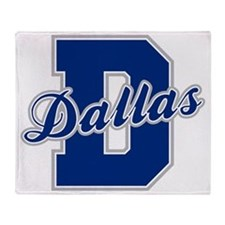 Dallas Letter Throw Blanket