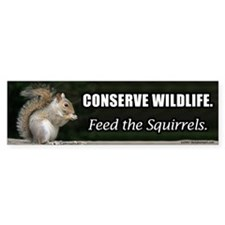 Conserve Wildlife Bumper Car Sticker