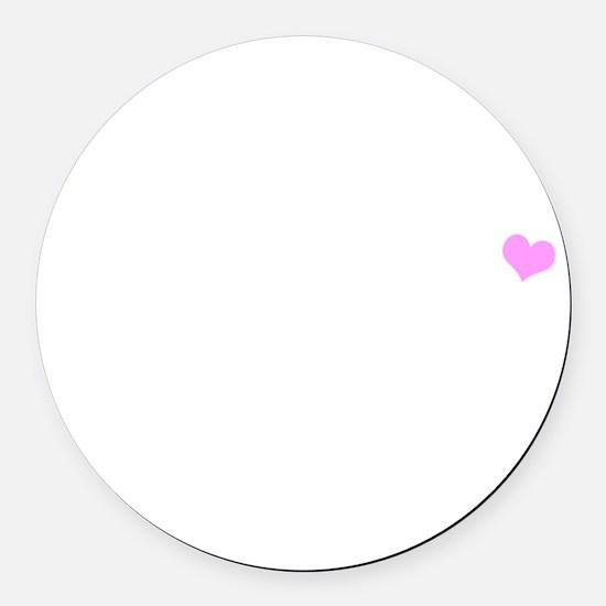 belieber-tshirt-white Round Car Magnet