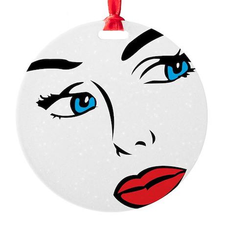 Face Round Ornament
