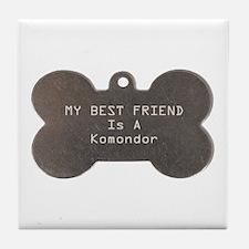 Friend Komondor Tile Coaster