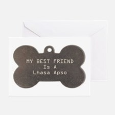 Friend Lhasa Apso Greeting Cards (Pk of 10)