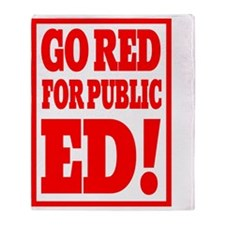 INDIANA GO RED for public ED rectang Throw Blanket