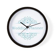 Wedding Planner in blue Wall Clock