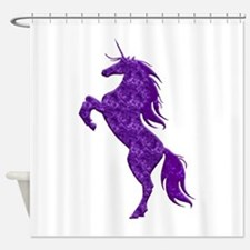 Purple Unicorn Shower Curtain