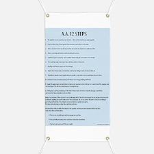 A.A. 12 Steps Banner