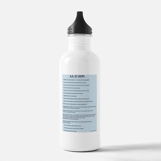 A.A. 12 Steps Water Bottle