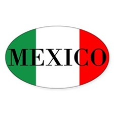 Mexico Flag Colors Decal