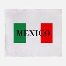 Mexico Flag Colors Throw Blanket