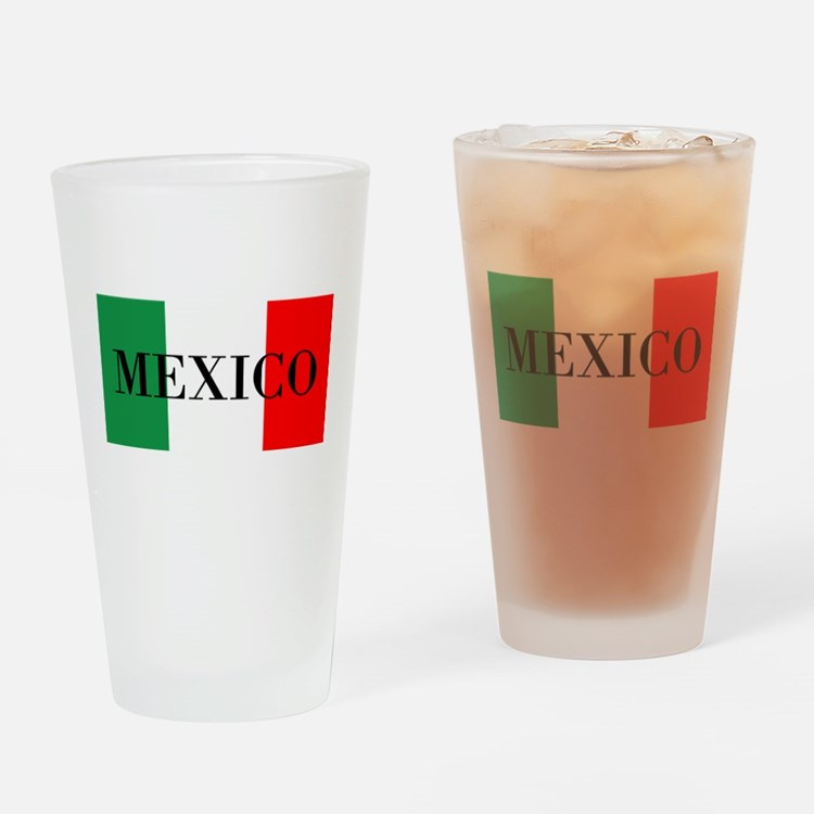Mexico Flag Colors Drinking Glass