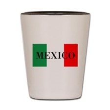 Mexico Flag Colors Shot Glass