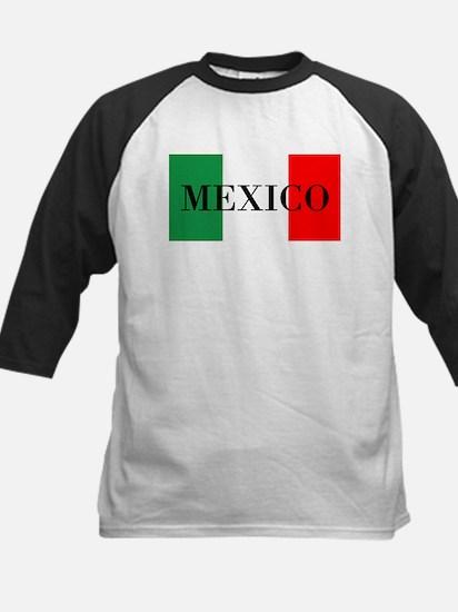 Mexico Flag Colors Baseball Jersey
