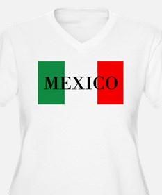 Mexico Flag Colors Plus Size T-Shirt