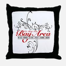 WE REP THE BAY Throw Pillow
