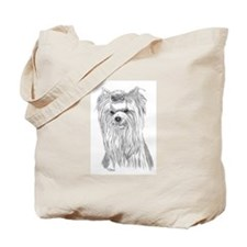 Yorkie show head Tote Bag
