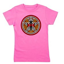 Red Goddess Pentacle-transparent Girl's Tee